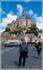 Михаил Поляков и вид на аббатство МОН СЕН-МИШЕЛЬ ( Mont Saint-Michel )