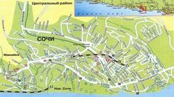 Карта Сочи с улицами