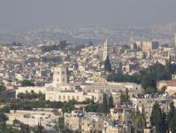 Главный вид Иерусалима со смотровой площадки на Елеонской горе.