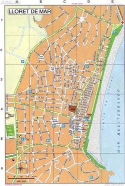 Карта Ллорет де Мар
