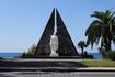 Памятник ветеранам напротив павильона и перехода к гост. Чегем