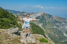 Гора Ипсарио, самая высокая точка острова, высота 1206 метров над уровнем моря.