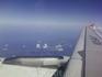 рейс СПб-Мюнхен,а/к РОССИЯ,под крылом Финский залив ,вижу дачу и свой пляж на берегу ,г. Сосновый Бор,АЭС.Погода -что надо!