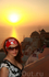 Закат на острове Санторини.