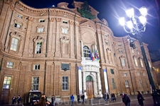 Дворец Кариньяно, знаменит выпукло-вогнутым фасадом.