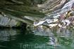"""""""Потолок"""" пещеры очень низко нависает над водой..."""