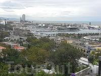 вид Барселоны с горы Монтжуик 5