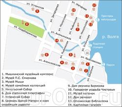 Центр Мышкина на карте