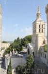 С самой высокой башни папского дворца снимаю близлежащие окрестности