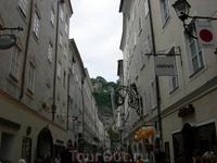 Улочка в исторической части Зальцбурга
