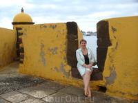С его стен открывается вид на Фуншал и набережную, где стоят причалившие в порт яхты и суда.