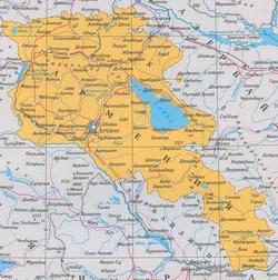 Карта Армении на русском
