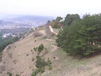 """По пути к вершине """"Красное солнышко""""; вид на склоны горы"""