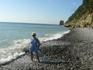 вид на скалу парус с пляжа