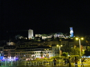 Ночные Канны.  На холме- замок Кастр 12 век.