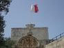 Обратная сторона городских ворот. Покровители Мдины - апостол Павел, первый правитель города Публиус и Святая Агата.