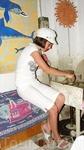 Детям дали возможность попробывать себя в гончарном деле:)) С первого раза не получилось, но вот со второго была произведена вазочка.