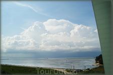 облака над Горьковским водохранилищем