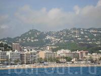 Вид с моря на Ллорет де Мар