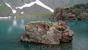 Вот такие глыбы острова на озере