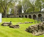Легендарные вороны Тауэра. И остатки развалин римского поселения.