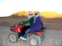 поездка на квадрациклах в пустыню