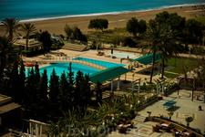 Территория  отеля Olympos Beach, вид с балкона