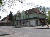 Стариные немецкие дома на улицах бывшего Раушена.