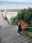 к пляжу поселка Янтарный