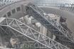 переход между 2 башнями на стеклянном эскалаторе на уровне 45 этажа. Осака
