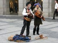 Уличные музыканты.