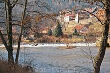 Река Огрже в городке Локет.