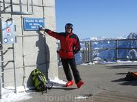 Верхняя станция подъемника-высота 3842 м-выше поднимаются только альпинисты