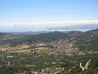 Вид с вершины Энос. 1628 метров над уровнем моря.