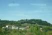 Пиза. Уезжая,  оглядываюсь назад,  еще один снимок из окна  автобуса на память.  Окрестности города.
