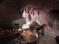 В музее, быт средневекового замка
