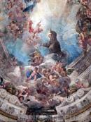 Часть росписи купола - Святой Антоний.