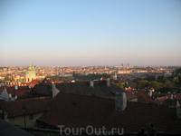 вид на город из Пражского града