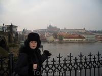 Вид на Прагу.