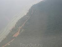 Вид острова с самолета