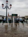 С утра был дождь и Венеция затопило...