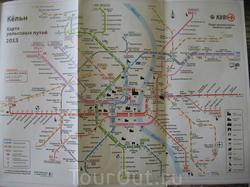 Карта рельсовых путей Кельна