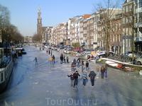 Традиция не одного века, катание на коньках на заледеневших каналах