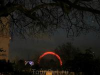 С The Mall просматривается знаменитый The London Eye