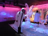 скульптуры изо льда.