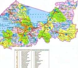 Карта районов Ленинградской области