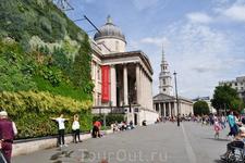 Живая картина.  (Трафальгарская площадь) Живая картина из растений является частью плана Национальной галереи по сокращению выбросов СО2 и «креативной ...