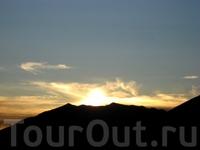 закат, вид с терассы
