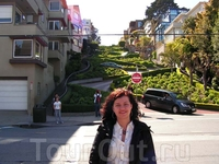 самая кривая улица в мире - Ломбард стрит!