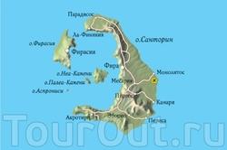 Карта Санторини на русском языке